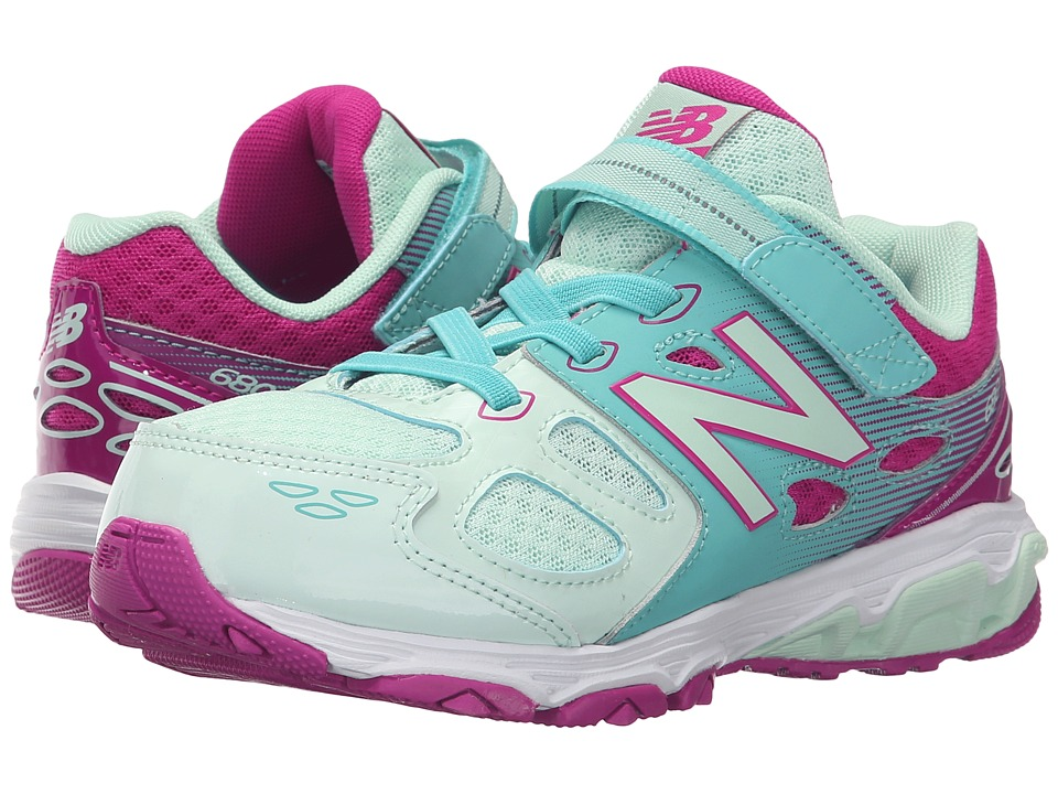 New Balance Kids - KA680v3 (Little Kid/Big Kid) (Sea Foam/Poisonberry) Girls Shoes