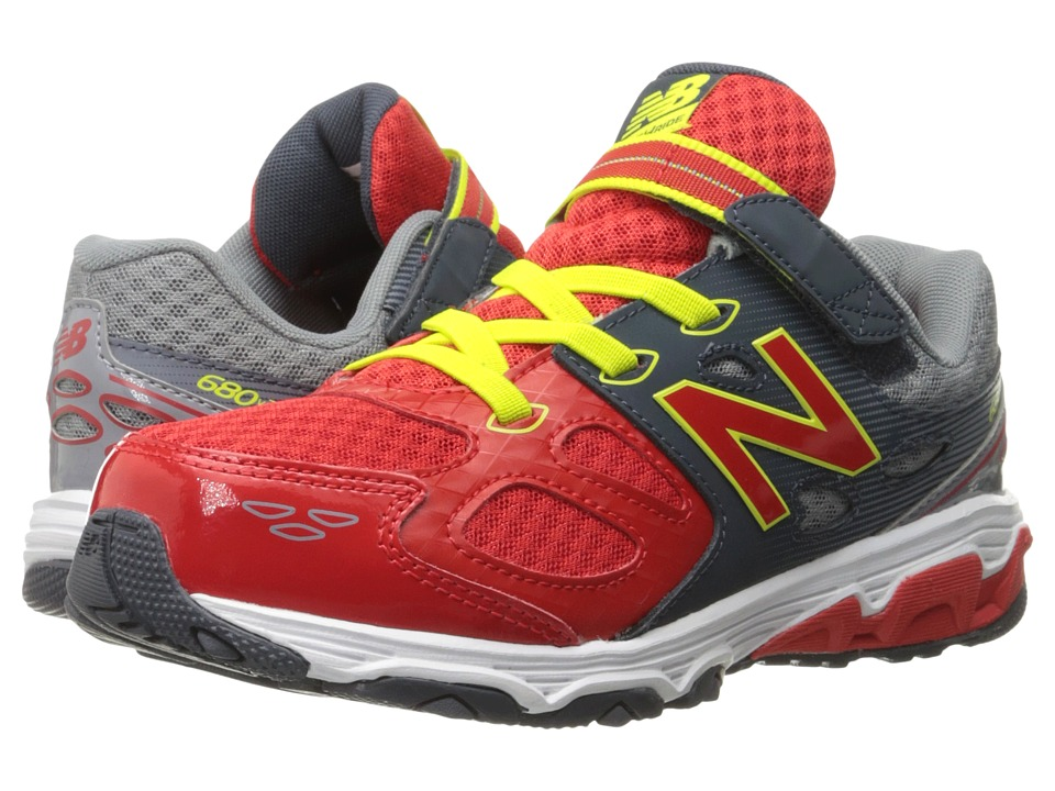 New Balance Kids - KA680v3 (Little Kid/Big Kid) (Grey/Red) Boys Shoes
