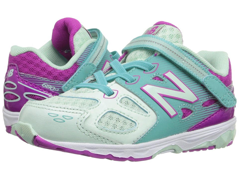 New Balance Kids KA680v3 (Infant/Toddler) (Sea Foam/Poisonberry) Girls Shoes