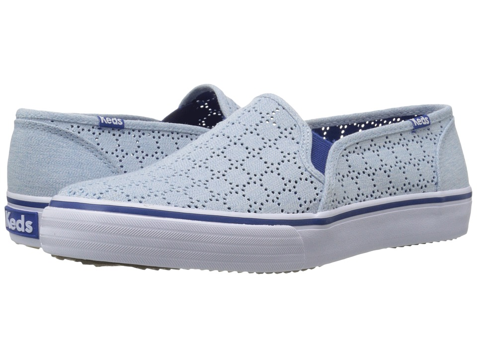 Keds - Double Decker Perf (Blue) Women's Shoes