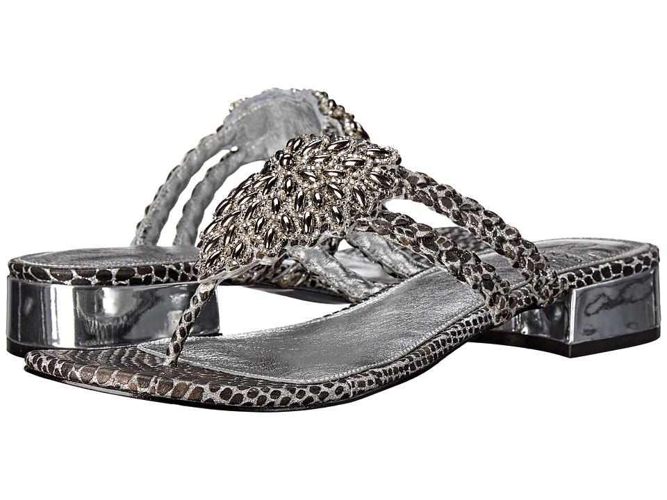 Adrianna Papell - Delta (Silver Lizy Metallic) Women's Dress Sandals