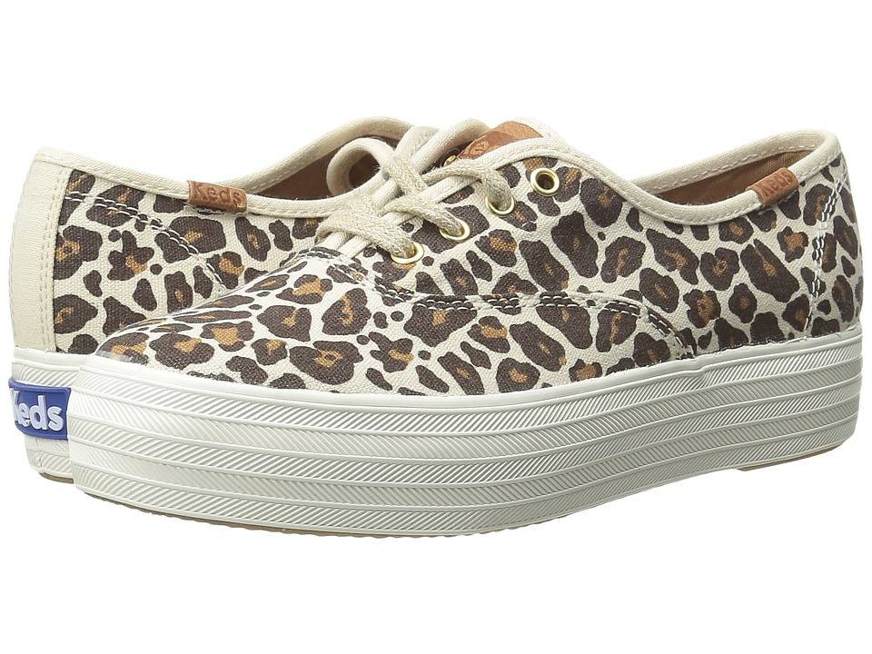 Keds - Triple Leopard (Natural/Brown) Women's Shoes