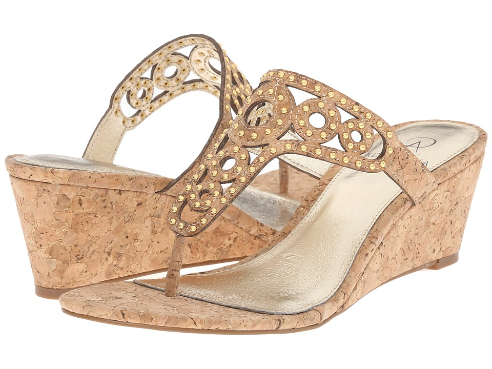 Adrianna Papell - Ceci (Gold Sparkle Cork) Women's Wedge Shoes