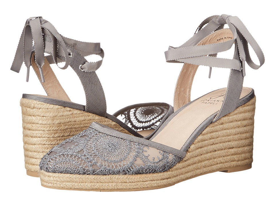 Adrianna Papell - Penny (Pewter Barcelona Lace) Women's Wedge Shoes