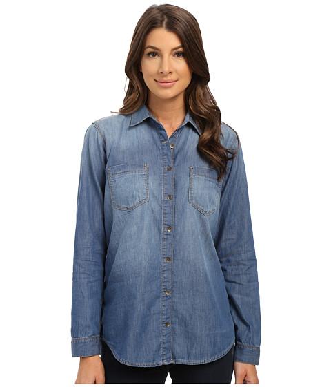 Mavi Jeans - Juliet Shirt (Medium Blue) Women's Long Sleeve Button Up