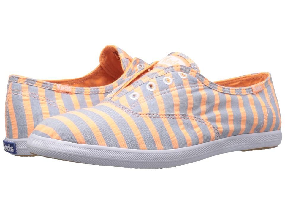 Keds - Chillax Neon Stripe (Orange) Women