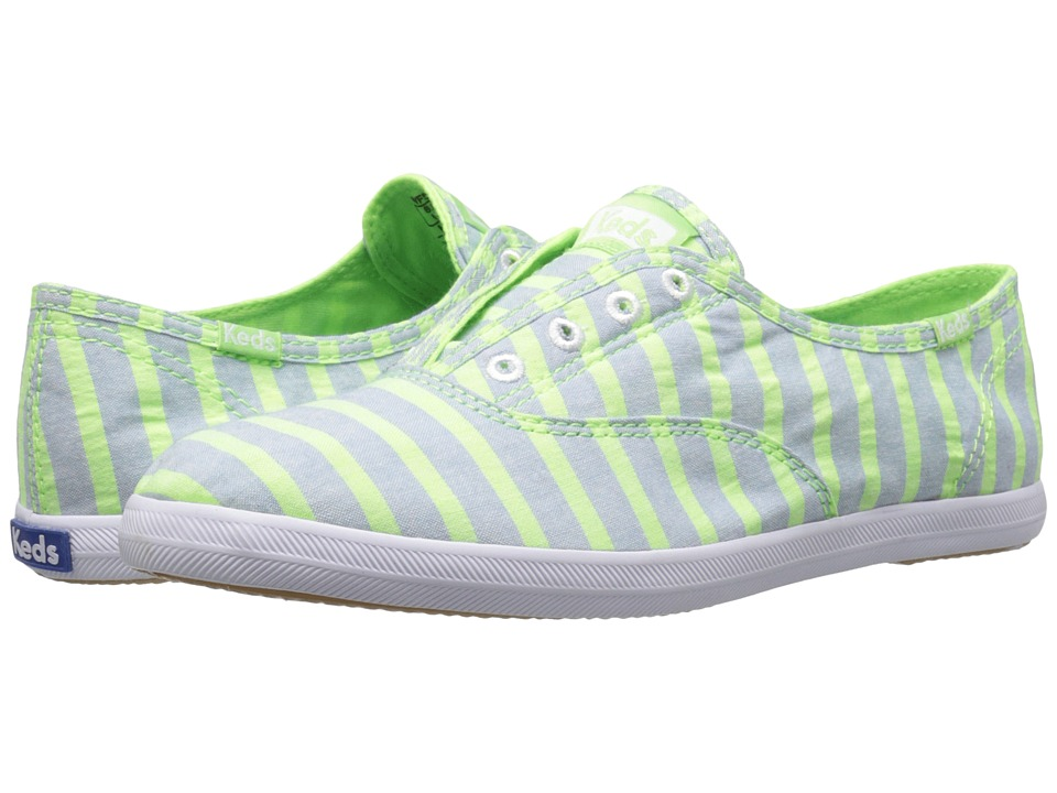 Keds - Chillax Neon Stripe (Green) Women's Shoes