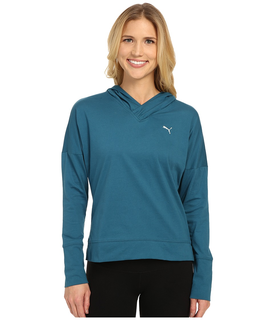 PUMA - Lightweight Pullover Top (Blue Coral) Women's Clothing