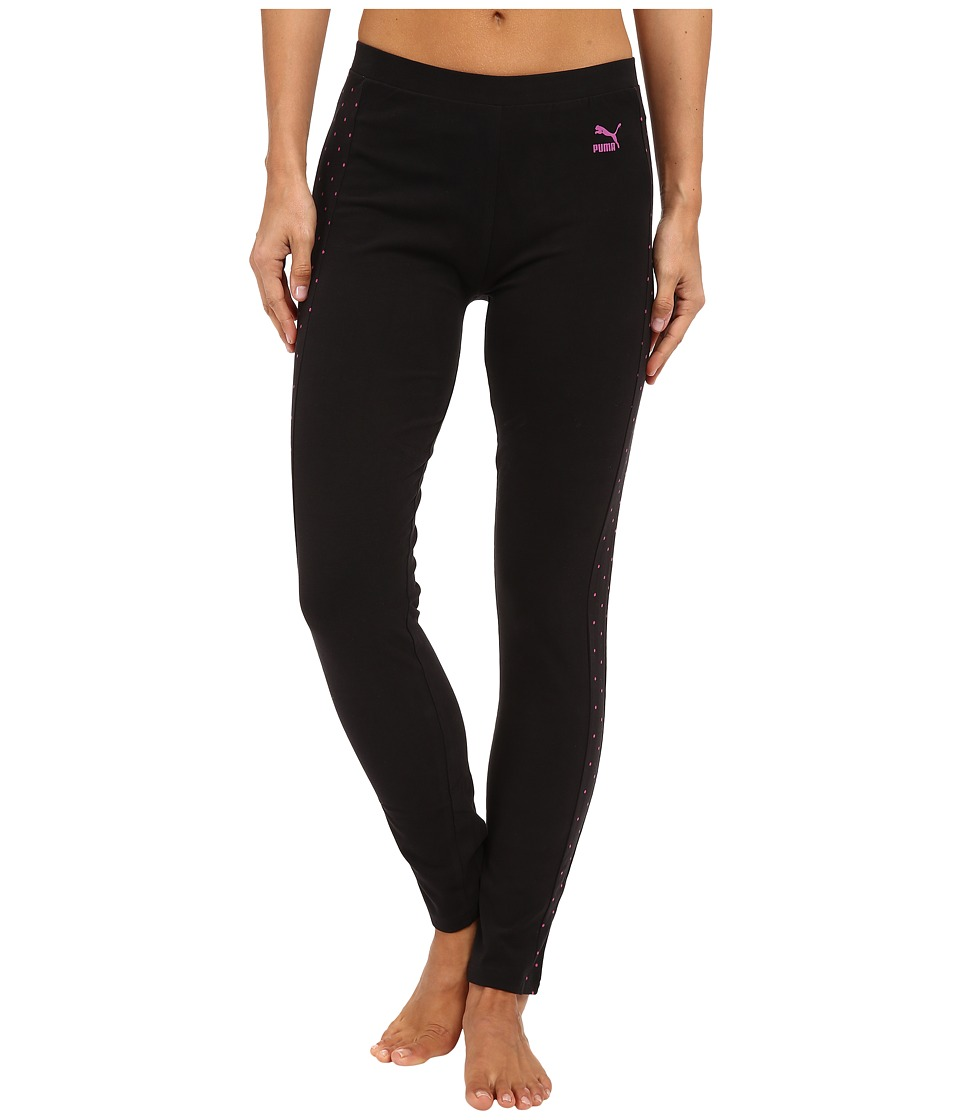 PUMA - Polka Dots Leggings (Black) Women's Casual Pants