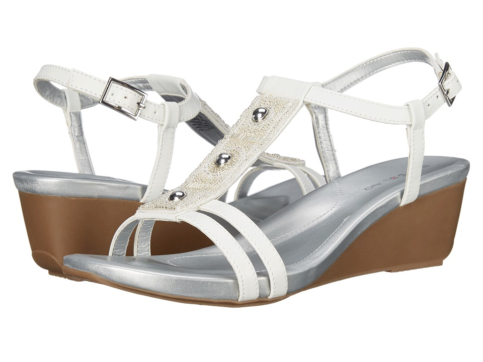 Bandolino - Hettie (White Synthetic) Women's Sandals