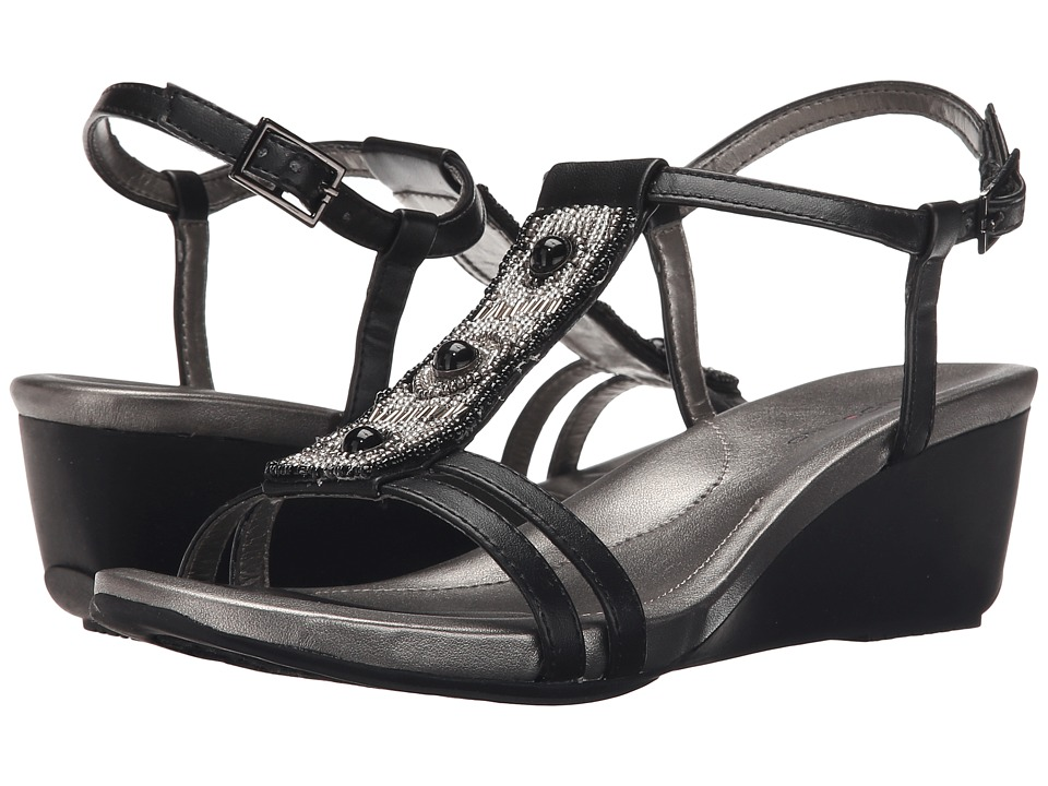 Bandolino - Hettie (Black Synthetic) Women's Sandals