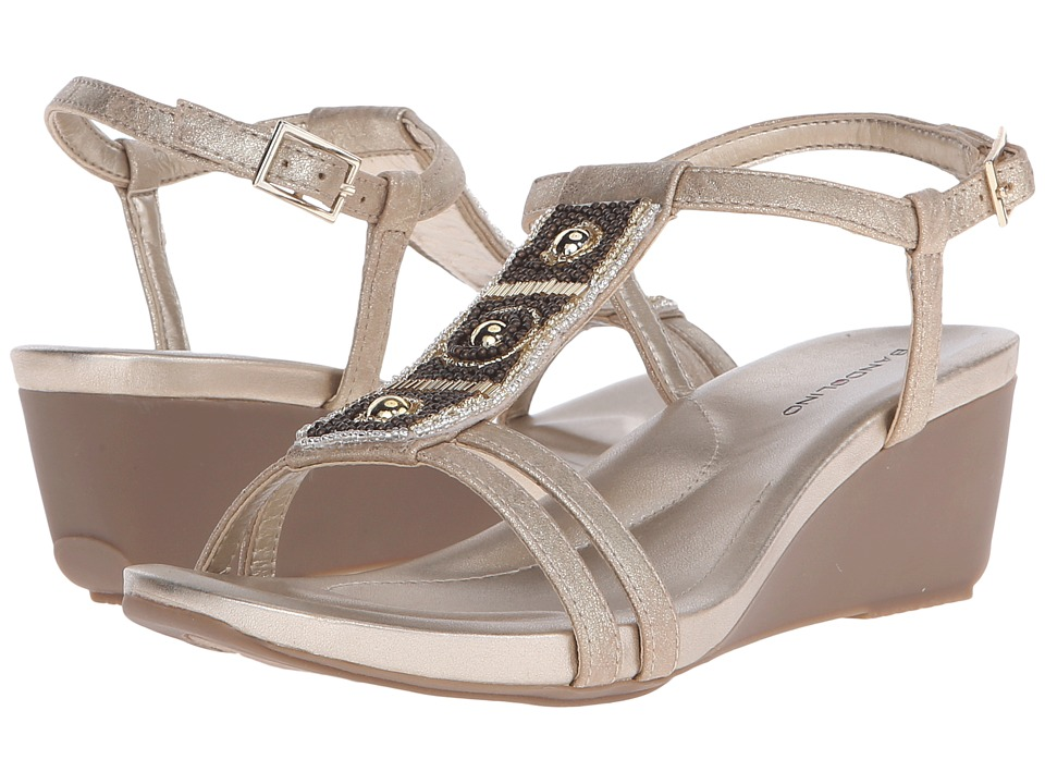 Bandolino Hettie (Light Gold Synthetic Synthetic) Women