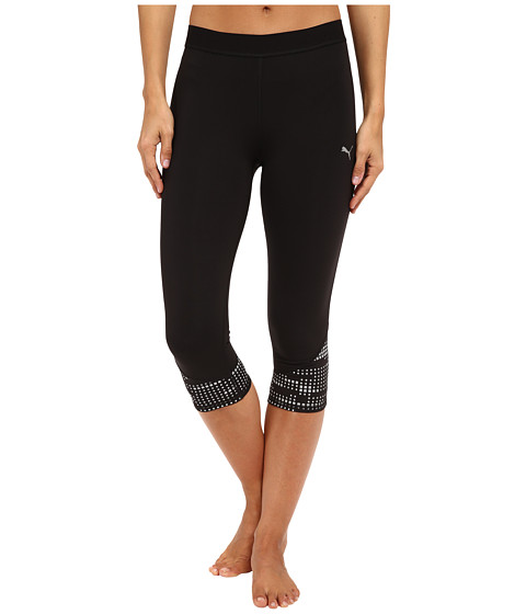 PUMA - Pure NightCat 3/4 Tights (Black) Women's Capri