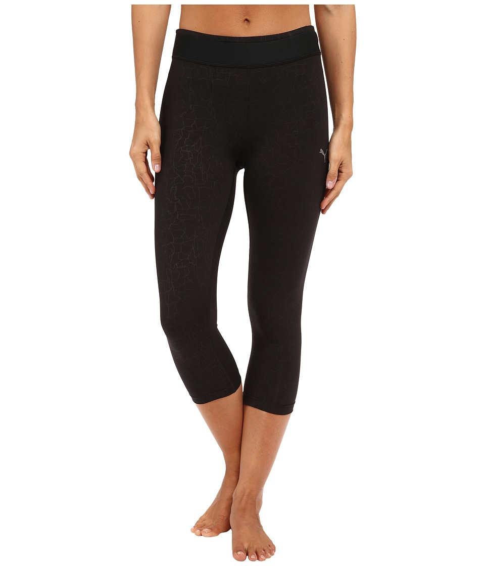 PUMA - Training All Eyes On Me 3/4 Tights (Black Embossed) Women's Capri