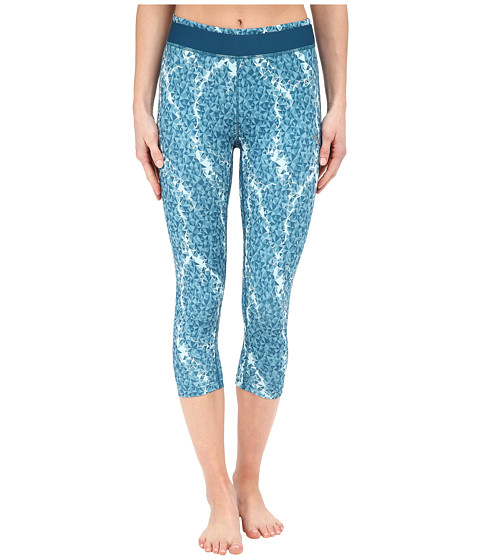 PUMA - Training All Eyes On Me 3/4 Tights (Blue Coral Tapestry) Women's Capri