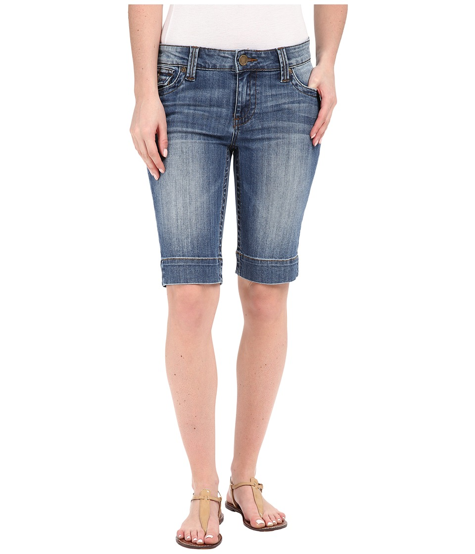 KUT from the Kloth - Natalie Bermuda Shorts in Timeliness w/ Medium Base Wash (Timeliness/Medium Base Wash) Women's Shorts