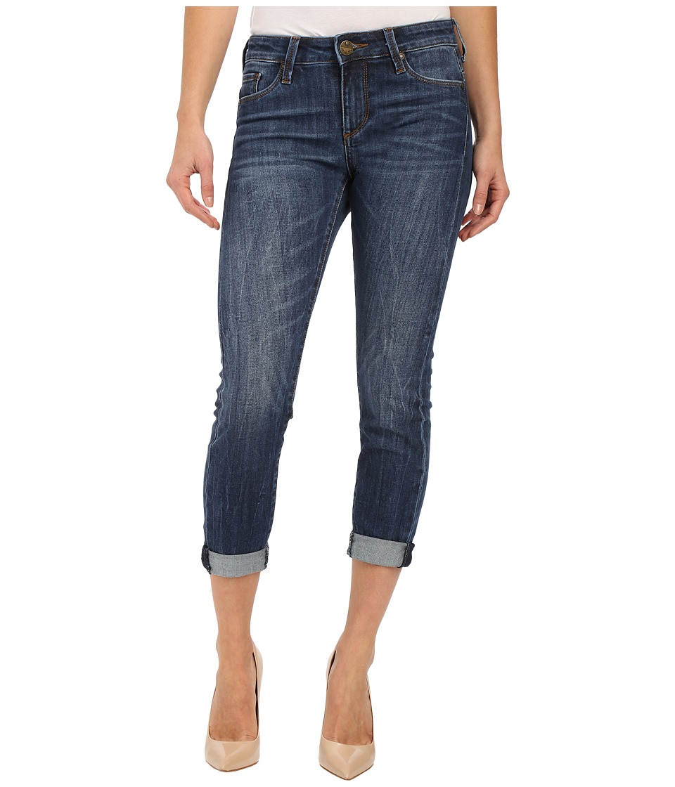 KUT from the Kloth - Kathleen Slim Boyfriend Jeans in More w/ Dark Stone Base Wash (More/Dark Stone Base Wash) Women's Jeans plus size,  plus size fashion plus size appare