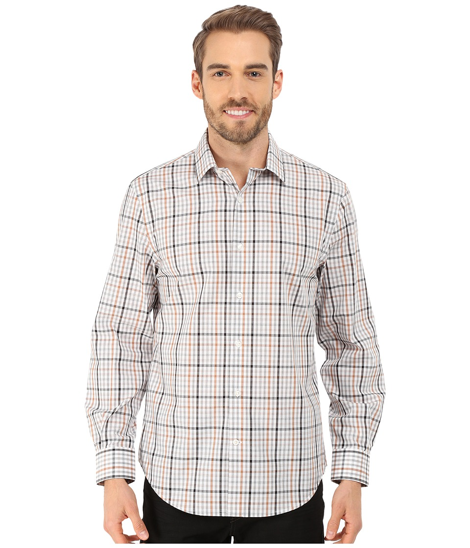 Perry Ellis - Heathered Check Pattern Shirt (New Camel) Men