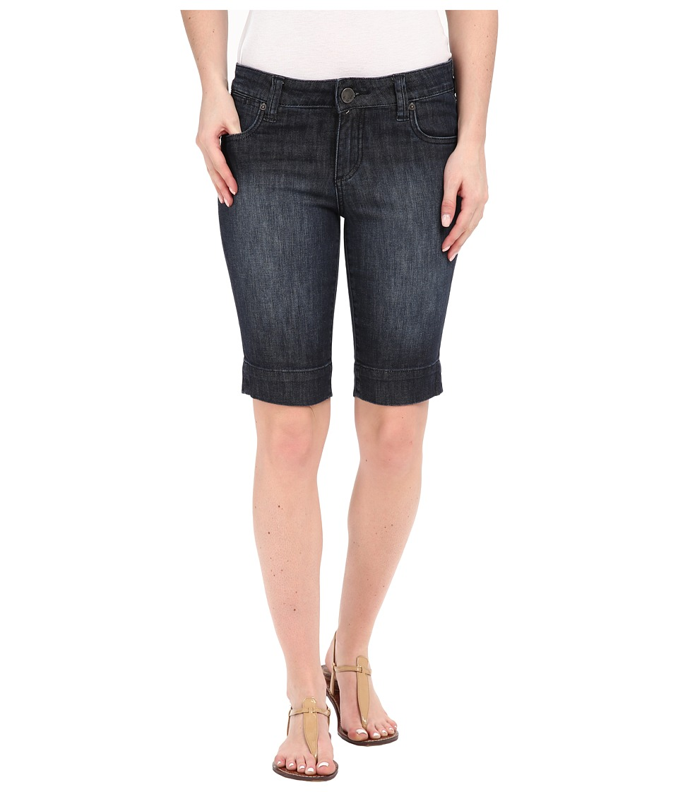KUT from the Kloth - Natalie Bermuda Shorts in Direct w/ Dark Stone Base Wash (Direct/Dark Stone Base Wash) Women's Shorts