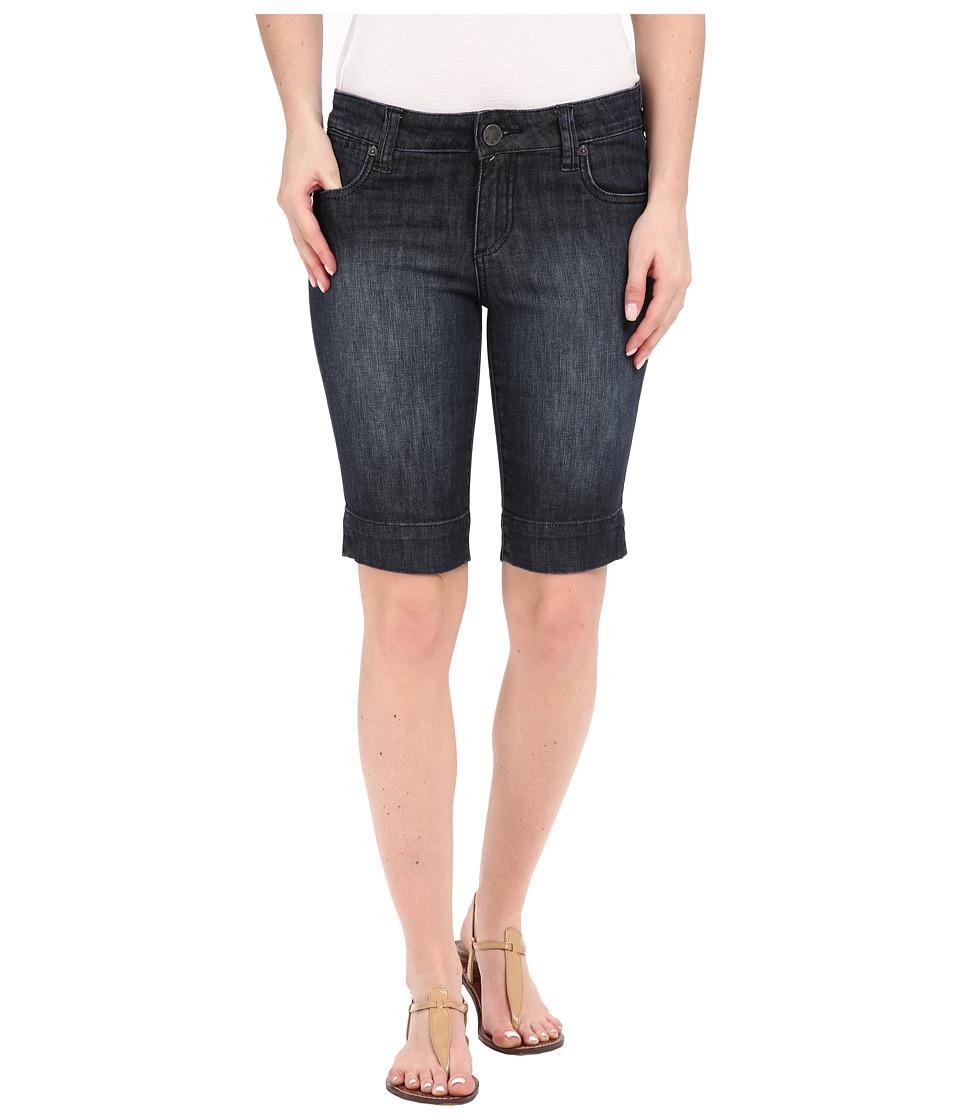 KUT from the Kloth - Natalie Bermuda Shorts in Direct w/ Dark Stone Base Wash (Direct/Dark Stone Base Wash) Women's Shorts