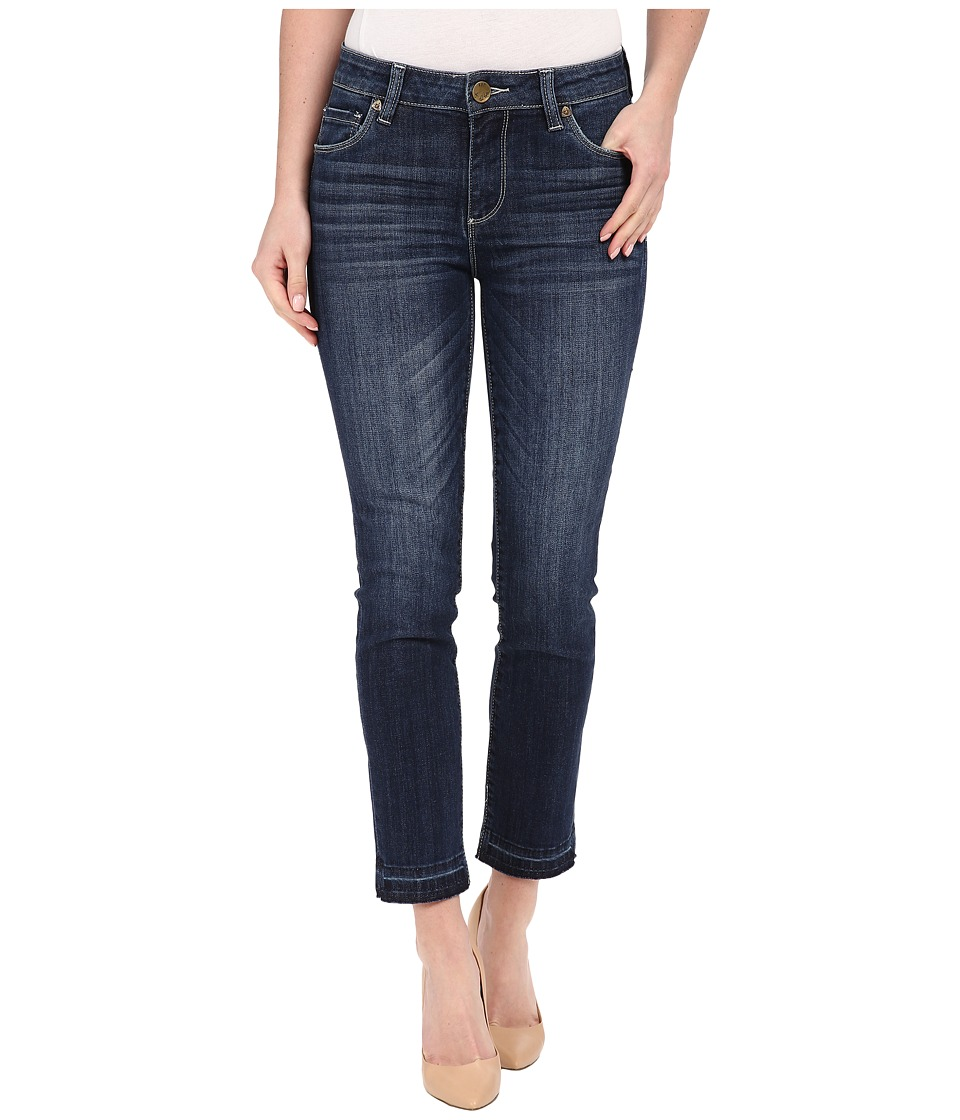 KUT from the Kloth - Reese Ankle Straight Leg Jeans in Rely w/ Dark Stone Base Wash (Rely/Dark Stone Base Wash) Women's Jeans