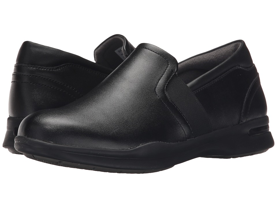 SoftWalk - Vantage (Black Action Leather) Women's Slip on Shoes