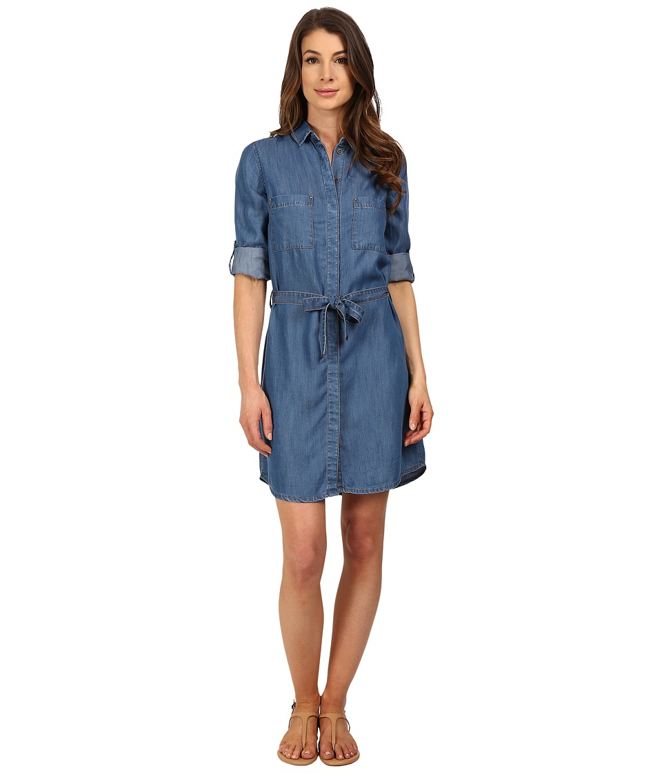 KUT from the Kloth - Shelby Button Down Tee Dress (Dark Blue) Women's Dress