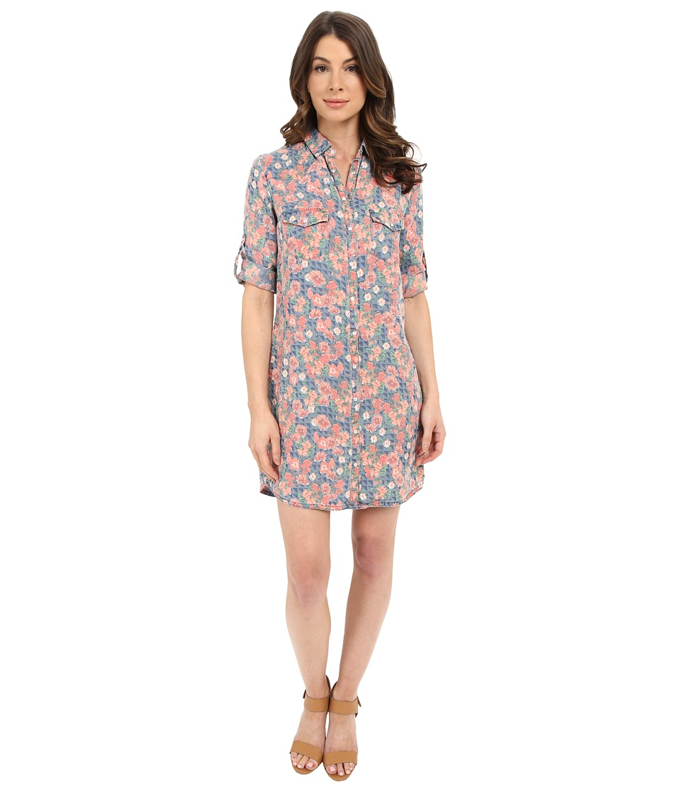 KUT from the Kloth - Ruthy Button Down Tee Dress (Blue) Women's Dress