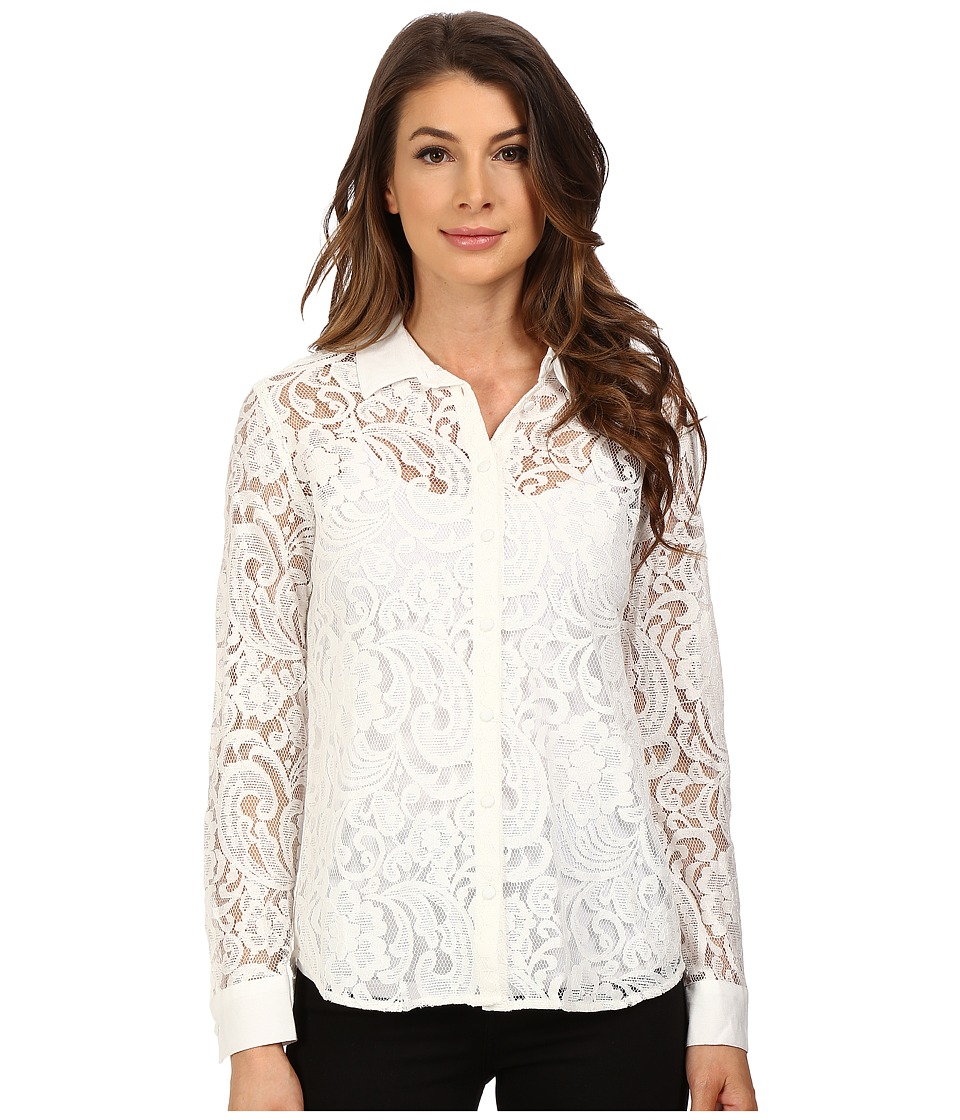 KUT from the Kloth - Julissa Button Down Top (White) Women's Long Sleeve Button Up