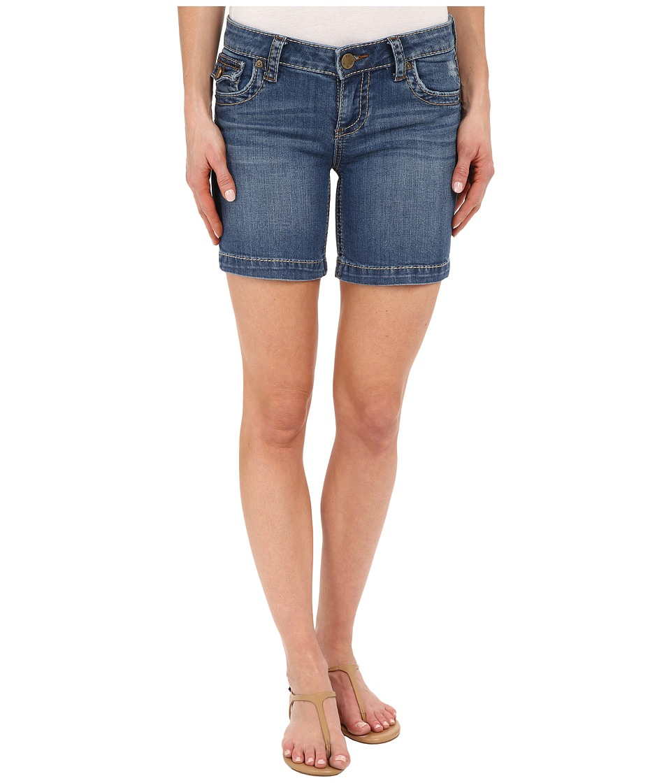 KUT from the Kloth - Natalie Chunky Stitch Shorts in Truth w/ Medium Base Wash (Truth/Medium Base Wash) Women's Shorts