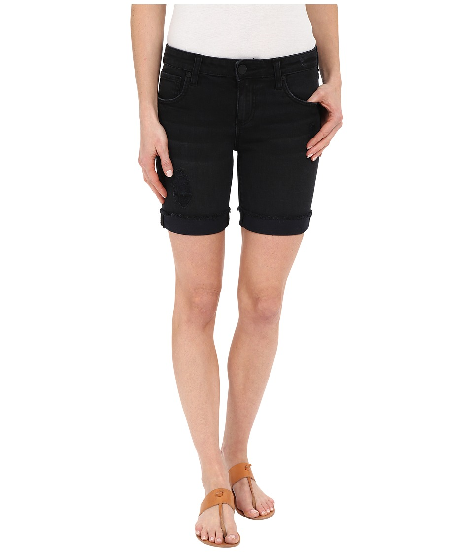 KUT from the Kloth - Catherine Boyfriend Shorts in Black (Black) Women's Shorts