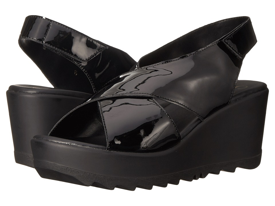Callisto of California - Torro (Black) Women's Wedge Shoes