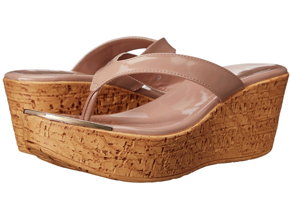 Callisto of California - Jaynie (Nude Patent) Women's Sandals