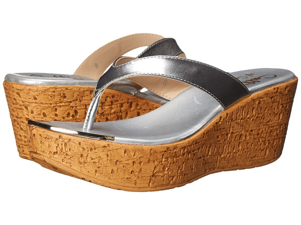 Callisto of California - Jaynie (Silver) Women's Sandals