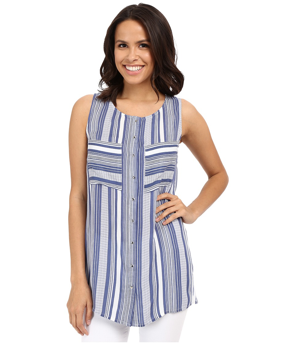 KUT from the Kloth - Helen Stripe Sleeveless Top (Blue) Women's Sleeveless