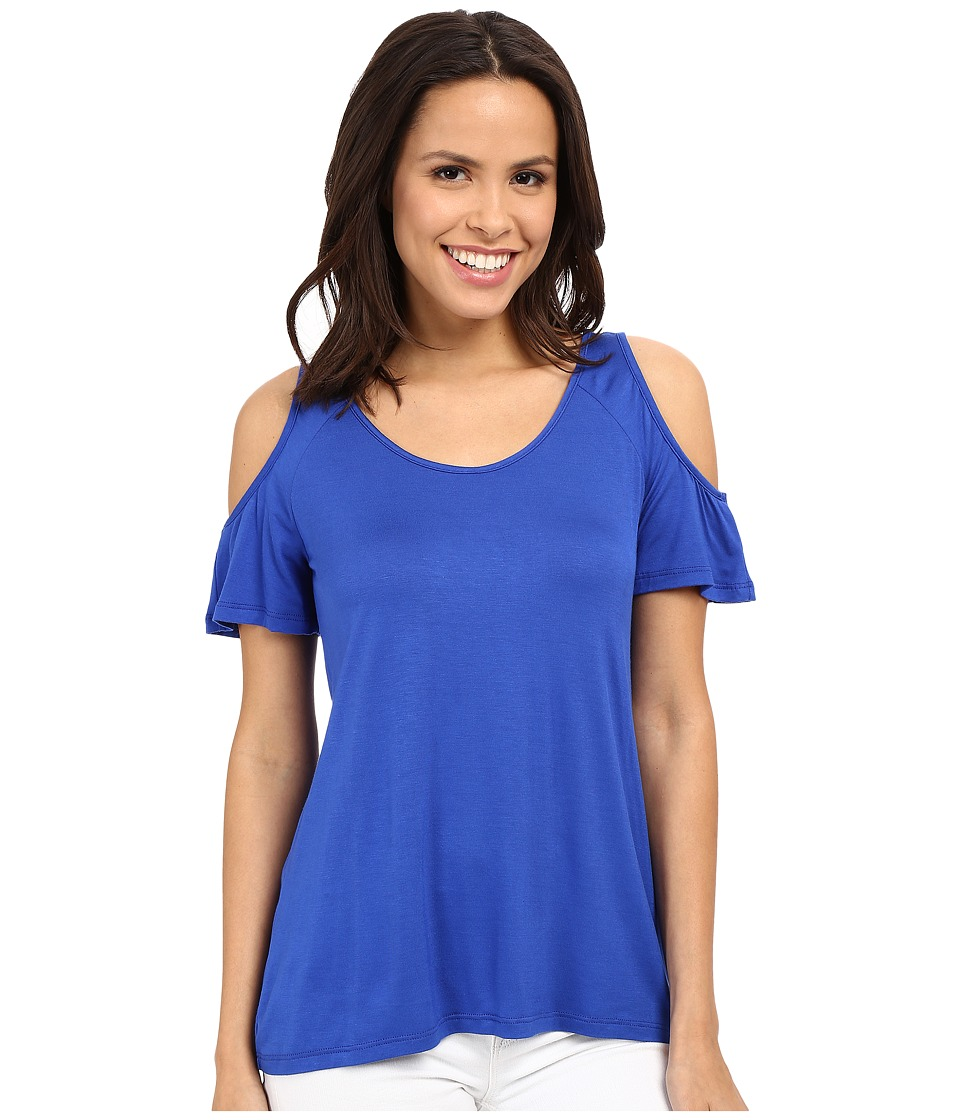 KUT from the Kloth - Carolina Cold Shoulder Top (Cobalt) Women's Blouse