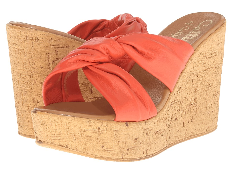 Callisto of California - Rachel (Coral) Women's Wedge Shoes