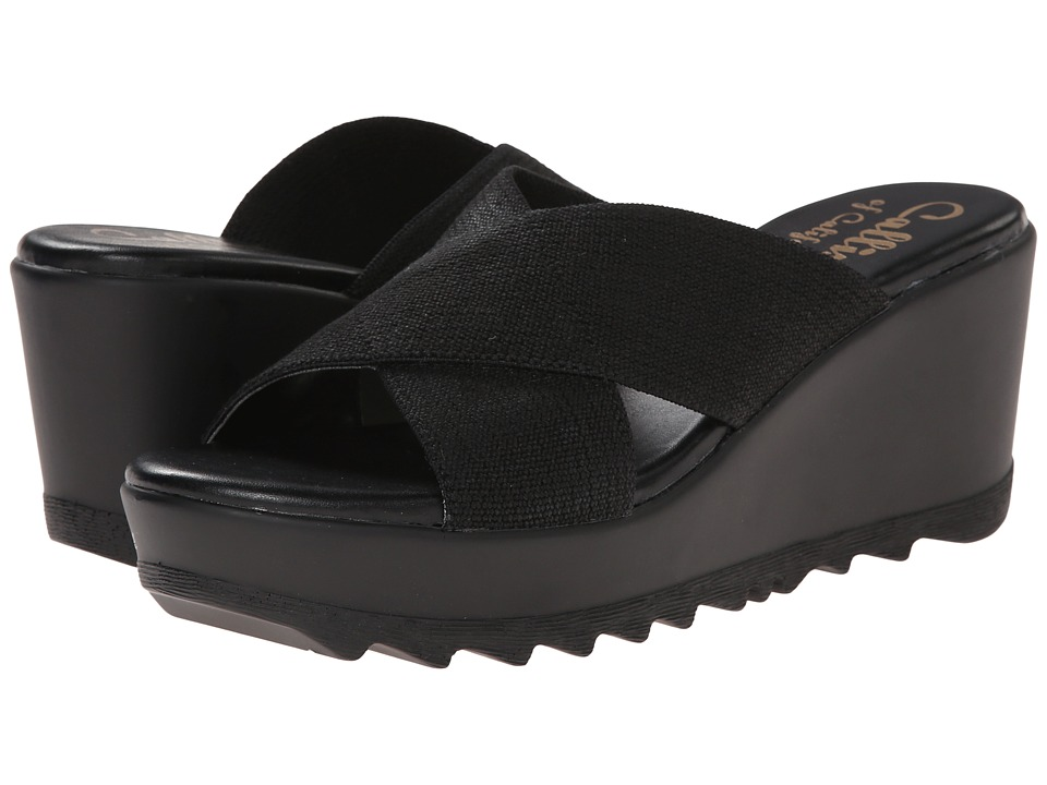 Callisto of California - Landis (Black) Women's Slide Shoes