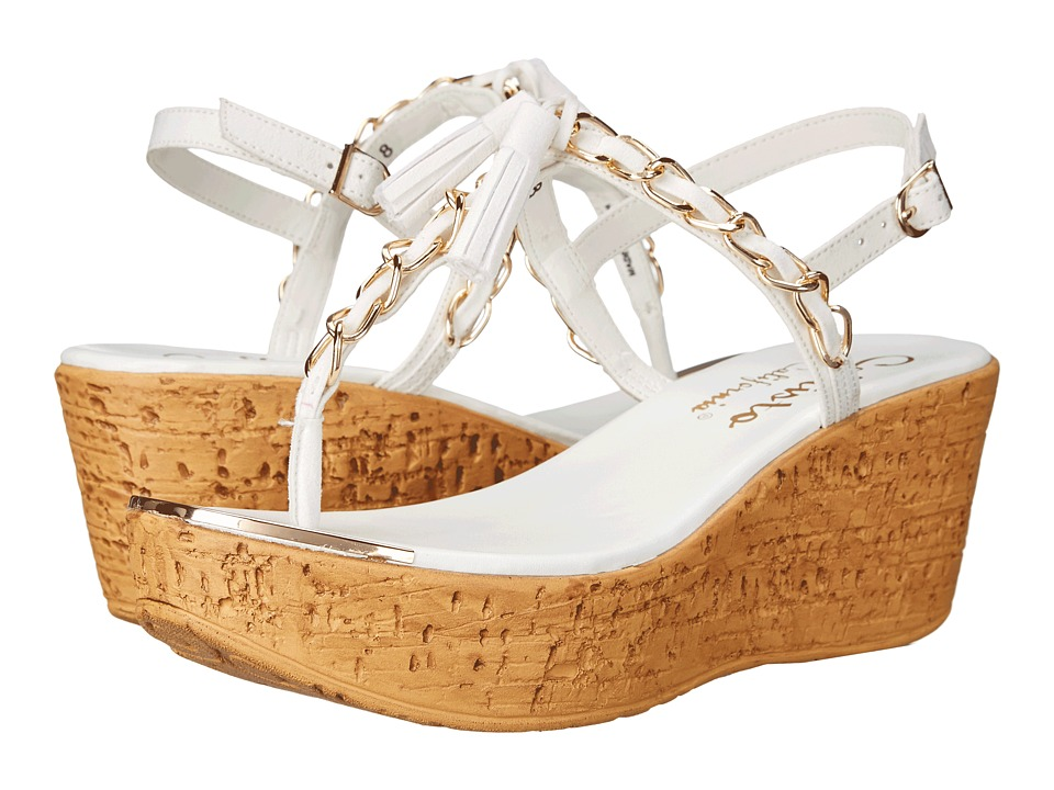 Callisto of California - Tamtam (White) Women's Wedge Shoes