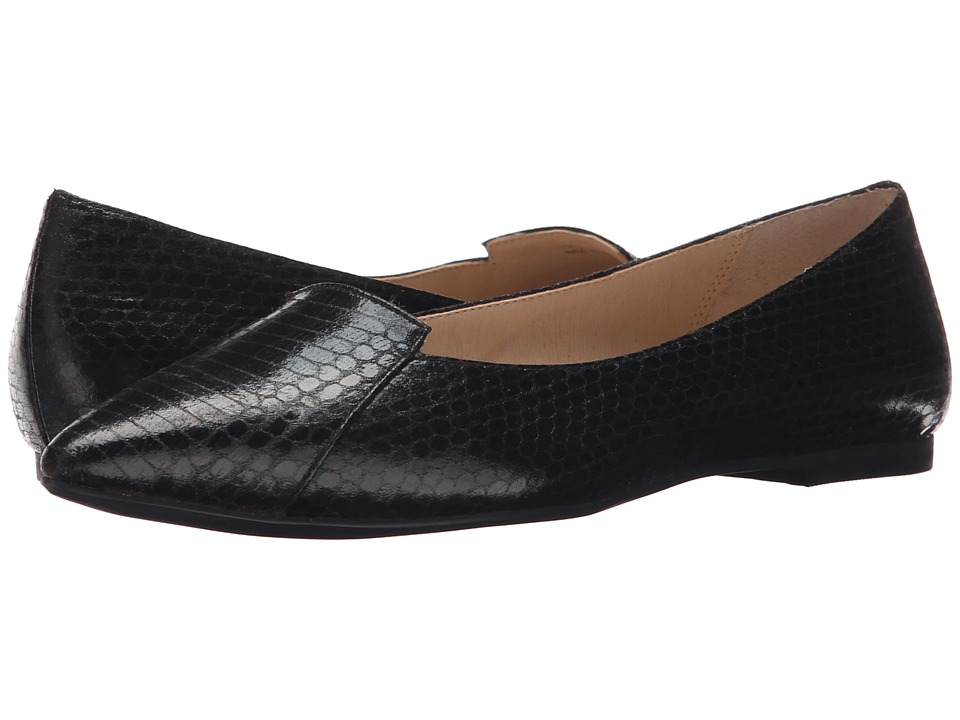 Callisto of California - Justine (Black Snake) Women's Dress Flat Shoes