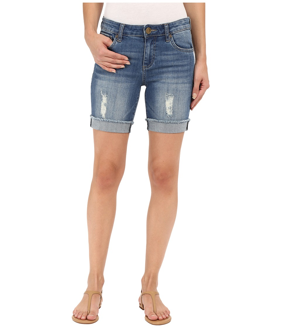 KUT from the Kloth - Catherine Boyfriend Shorts in Triumph w/ Medium Base Wash (Triumph/Medium Base Wash) Women's Shorts