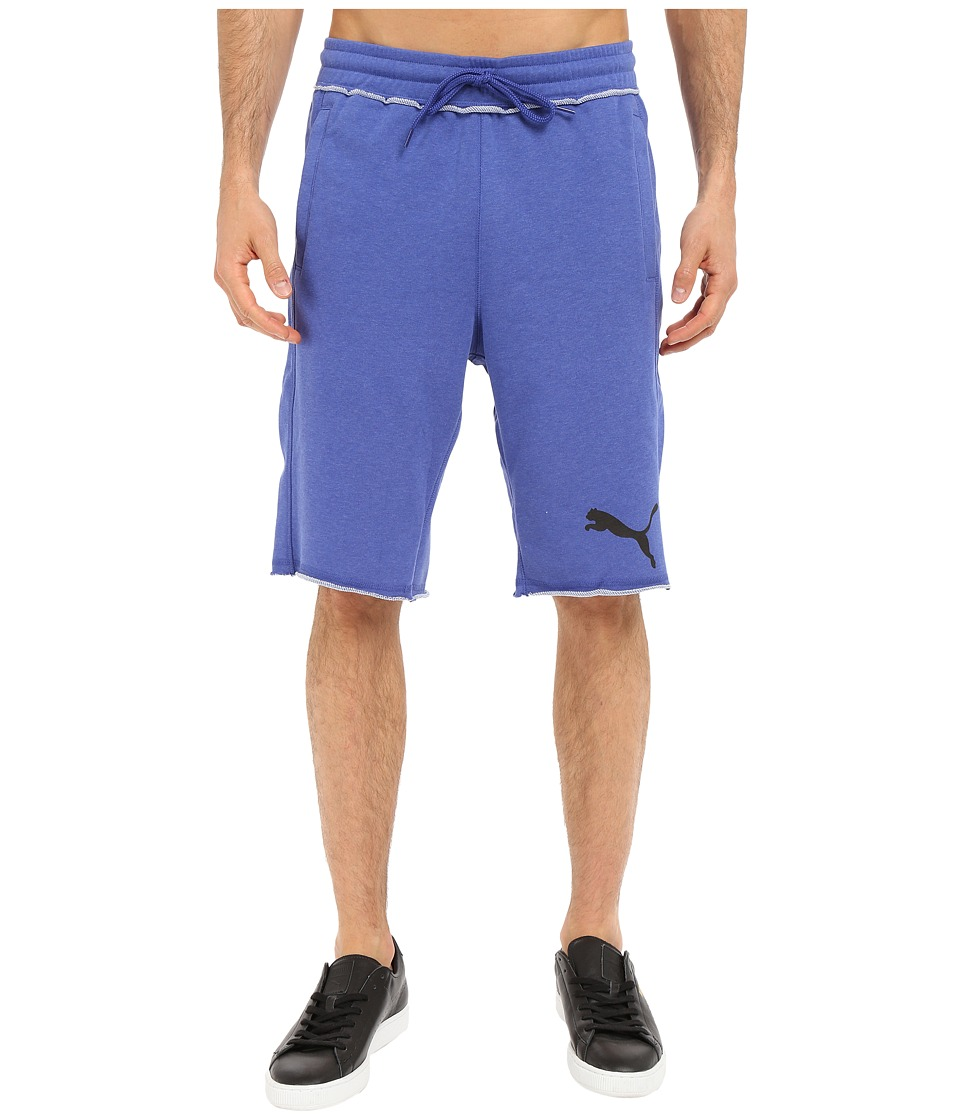 PUMA - 12 Sweat Bermuda (Clemetic Blue Heather) Men's Shorts