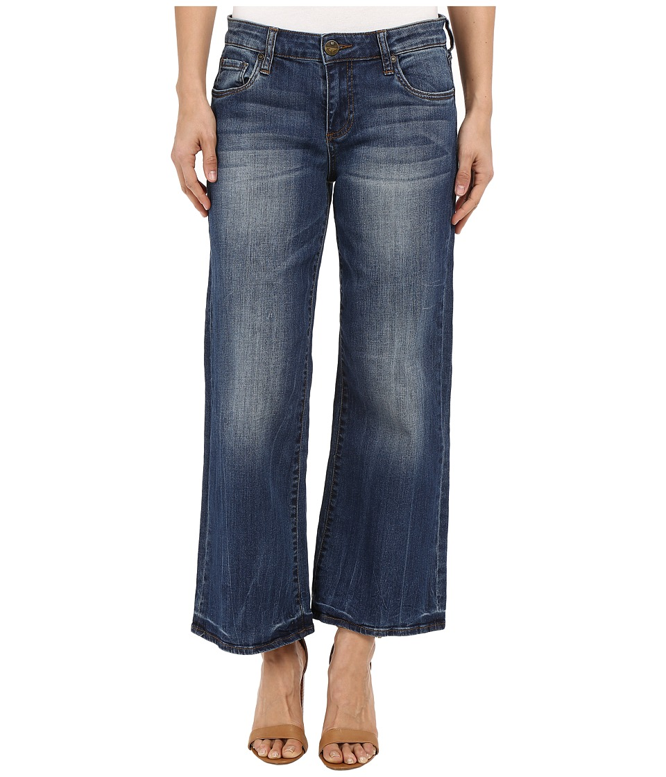 KUT from the Kloth - Culottes Five-Pocket Yokes in Pretty w/ Medium Base Wash (Pretty/Medium Base Wash) Women's Jeans