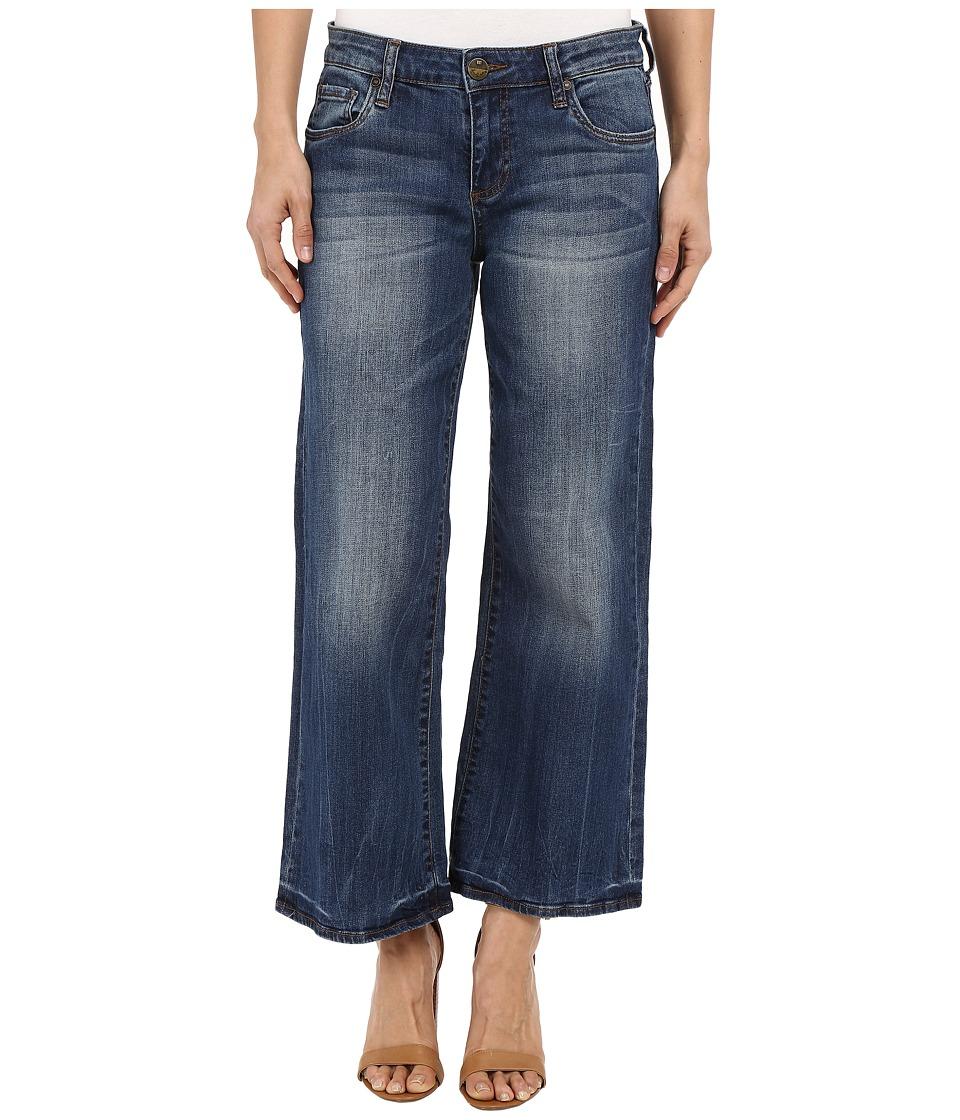 KUT from the Kloth - Culottes Five-Pocket Yokes in Pretty w/ Medium Base Wash (Pretty/Medium Base Wash) Women's Jeans