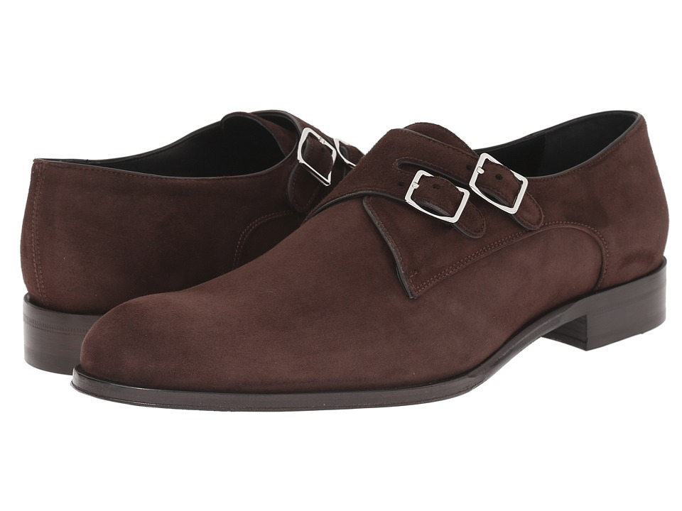Mr. Hare - Double Monk (Brown) Men's Slip on Shoes
