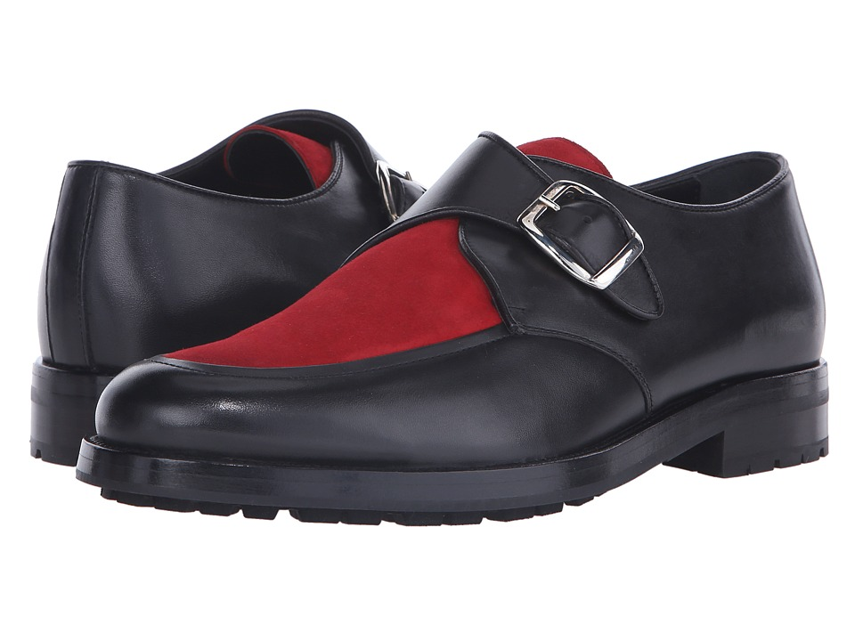 Mr. Hare - Bacon (Black/Red) Men's Slip on Shoes