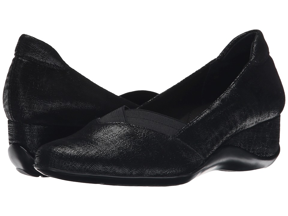 Vaneli - Candee (Black Trama Print) Women's Shoes