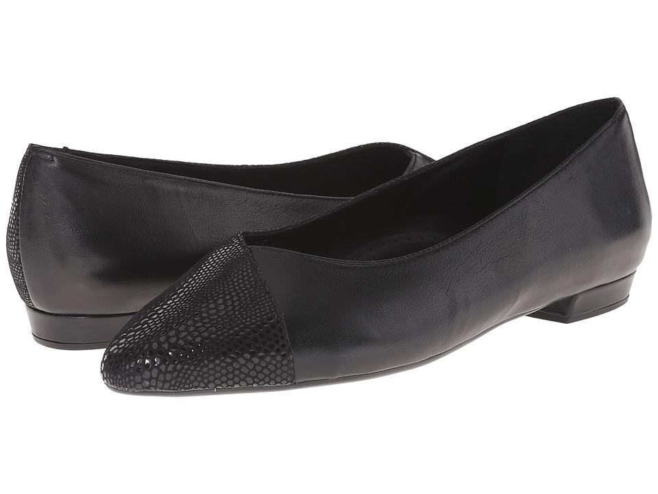 Vaneli - Ganesa (Black Nappa/Black) Women's Flat Shoes