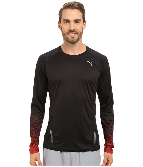 PUMA - Ignite Long Sleeve Tee (Black) Men's T Shirt