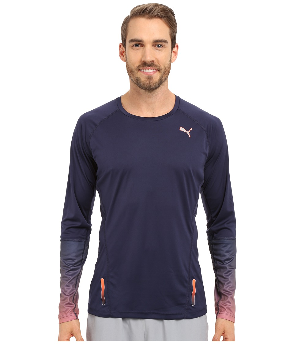 PUMA - Ignite Long Sleeve Tee (Peacoat) Men's T Shirt
